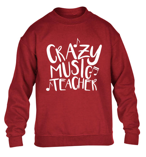 Crazy music teacher children's grey sweater 12-13 Years