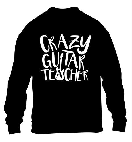 Crazy guitar teacher children's black sweater 12-13 Years