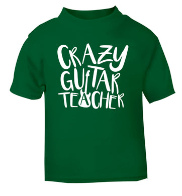 Crazy guitar teacher green Baby Toddler Tshirt 2 Years