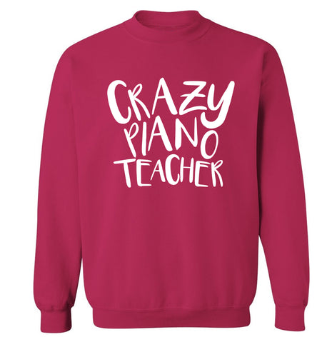 Crazy piano teacher Adult's unisex pink Sweater 2XL