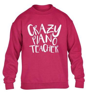 Crazy piano teacher children's pink sweater 12-13 Years