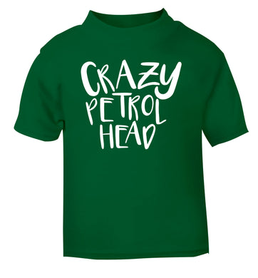 Crazy petrol head green Baby Toddler Tshirt 2 Years