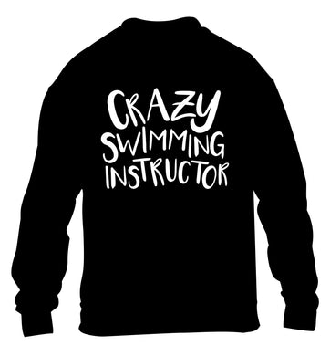Crazy swimming instructor children's black sweater 12-13 Years