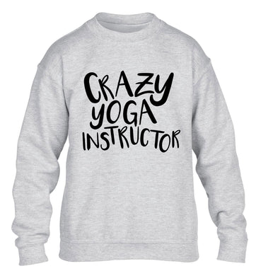 Crazy yoga instructor children's grey sweater 12-13 Years