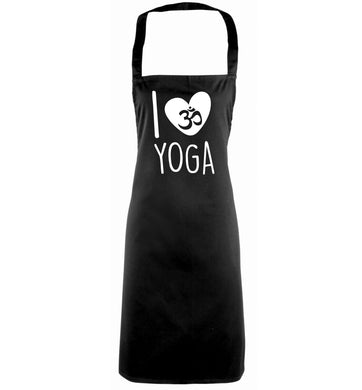 I love yoga black apron