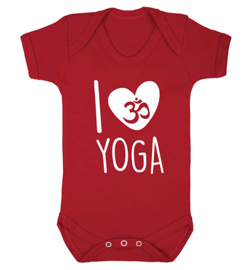 I love yoga Baby Vest red 18-24 months