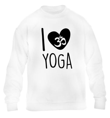 I love yoga children's white sweater 12-13 Years