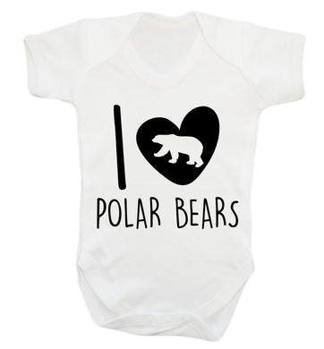 I Love Polar Bears Baby Vest white 18-24 months