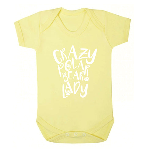 Crazy polar bear lady Baby Vest pale yellow 18-24 months