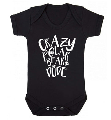 Crazy polar bear dude Baby Vest black 18-24 months