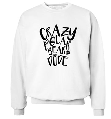 Crazy polar bear dude Adult's unisex white Sweater 2XL