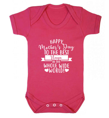 Happy mother's day to the best nana in the world baby vest dark pink 18-24 months