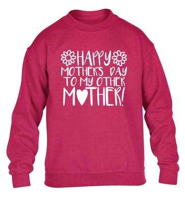 Happy mother's day to my other mother children's pink sweater 12-13 Years