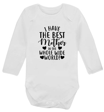 I have the best mother in the whole wide world baby vest long sleeved white 6-12 months