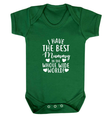 I have the best mummy in the whole wide world baby vest green 18-24 months