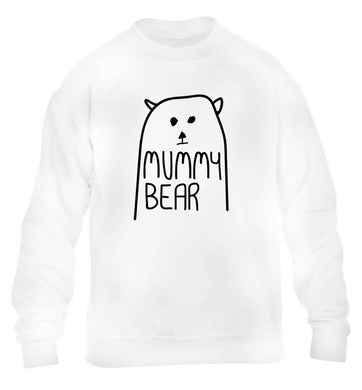 Mummy bear children's white sweater 12-13 Years