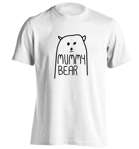 Mummy bear adults unisex white Tshirt 2XL