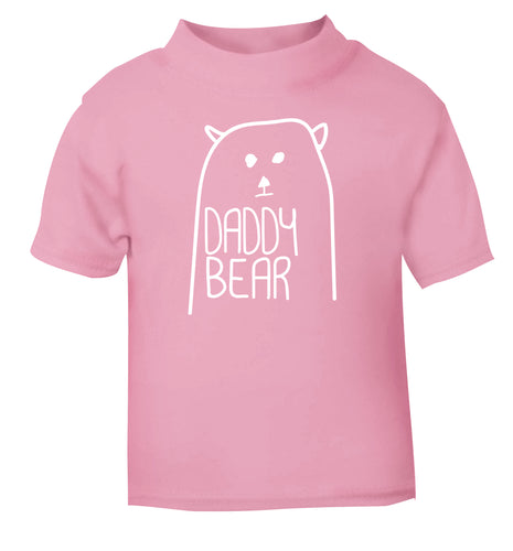 Daddy bear light pink Baby Toddler Tshirt 2 Years
