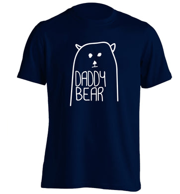 Daddy bear adults unisex navy Tshirt 2XL