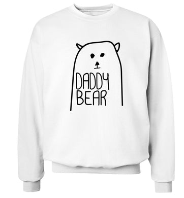 Daddy bear Adult's unisex white Sweater 2XL