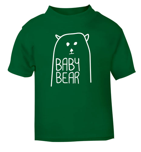 Baby bear green Baby Toddler Tshirt 2 Years