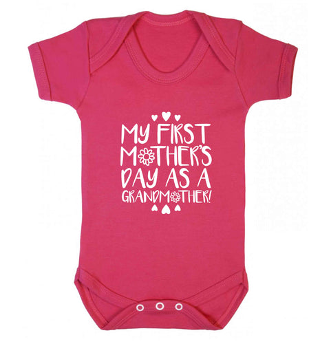 It's my first mother's day as a grandmother baby vest dark pink 18-24 months