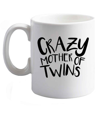 10 oz Crazy mother of twins ceramic mug right handed