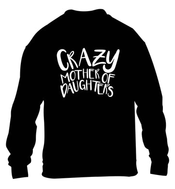 Crazy mother of daughters children's black sweater 12-13 Years