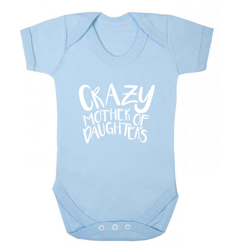 Crazy mother of daughters baby vest pale blue 18-24 months