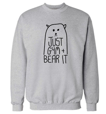 Just gym and bear it Adult's unisex grey Sweater 2XL