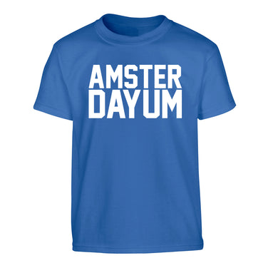 Amsterdayum Children's blue Tshirt 12-13 Years