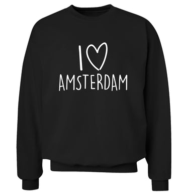 I love Amsterdam Adult's unisex black Sweater 2XL