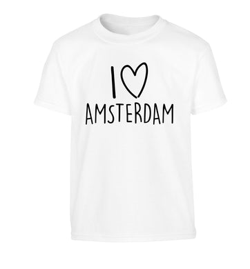 I love Amsterdam Children's white Tshirt 12-13 Years