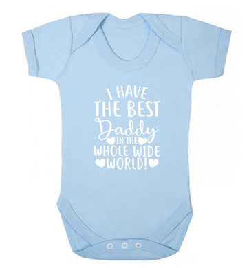 I have the best daddy in the whole wide world baby vest pale blue 18-24 months