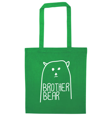 Brother bear green tote bag