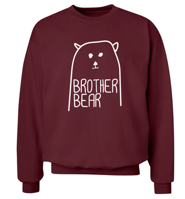 Brother bear Adult's unisex maroon Sweater 2XL