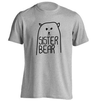 Sister bear adults unisex grey Tshirt 2XL