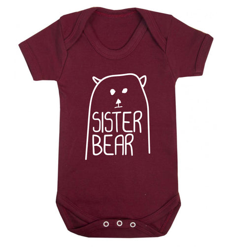 Sister bear Baby Vest maroon 18-24 months