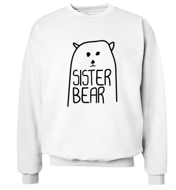 Sister bear Adult's unisex white Sweater 2XL
