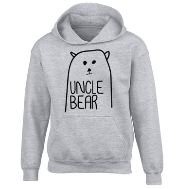 Uncle bear children's grey hoodie 12-13 Years