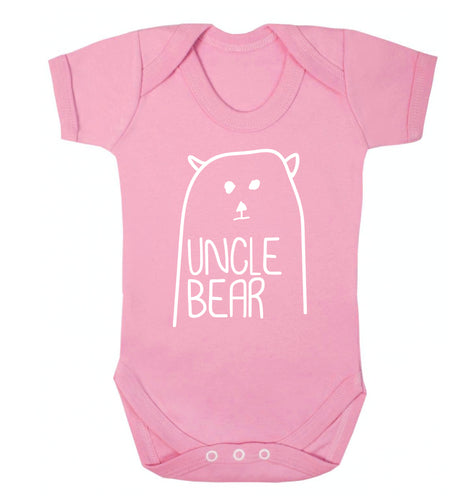 Uncle bear Baby Vest pale pink 18-24 months