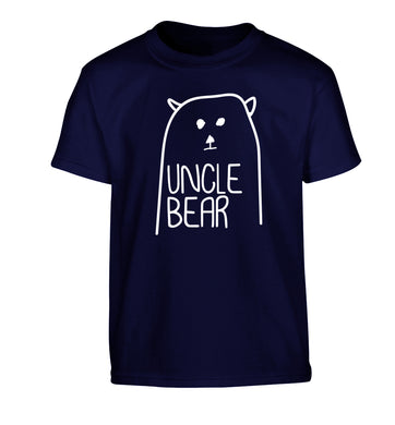 Uncle bear Children's navy Tshirt 12-13 Years
