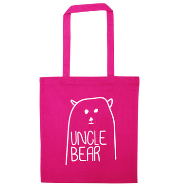 Uncle bear pink tote bag
