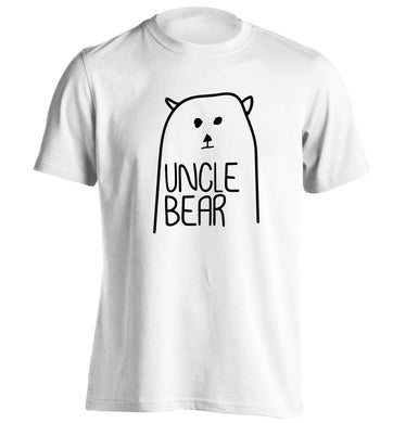 Uncle bear adults unisex white Tshirt 2XL