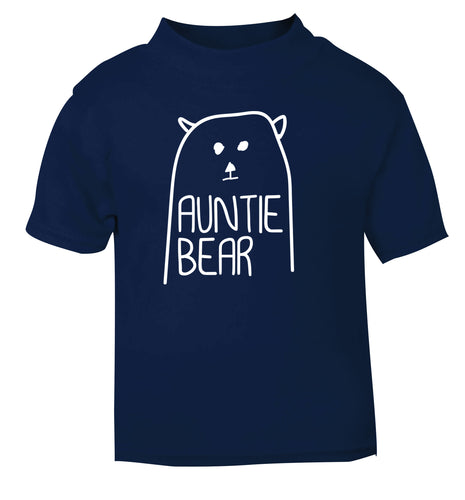 Auntie bear navy Baby Toddler Tshirt 2 Years