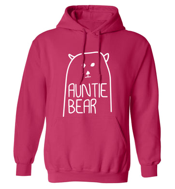 Auntie bear adults unisex pink hoodie 2XL