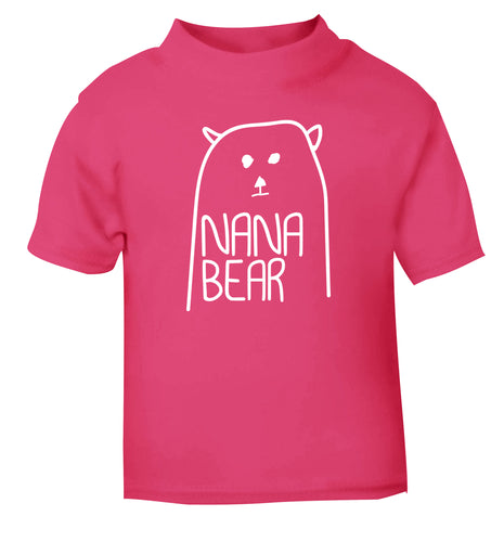 Nana bear pink Baby Toddler Tshirt 2 Years