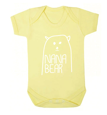 Nana bear Baby Vest pale yellow 18-24 months
