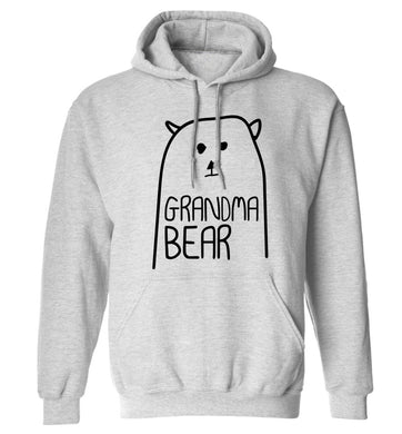 Grandma bear adults unisex grey hoodie 2XL