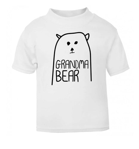 Grandma bear white Baby Toddler Tshirt 2 Years